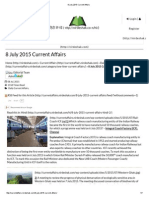 8 July 2015 Current Affairs