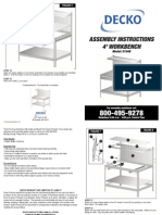 Decko Workbench Assembly Instructions (2013)