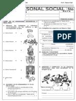 Examen 7ma Unidad PS - 3 Trimestre 5to
