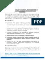 Requisitos Para Solicitar El Reconocimiento de La Personalidad Juridica y Aprobacion de Estatutos de Fundaciones