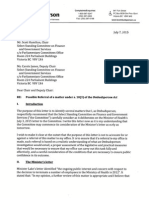 Ombudsperson letter to finance committee