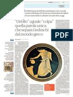 """Silvia Ronchey - """"Debito"""" uguale colpa - Da Repubblica 2015-07-08"""