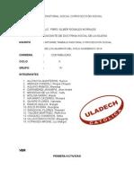 Informe Pastoral Social o Proyección Social