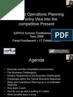 Farrayi Kambarami - Sales and Operations Planning