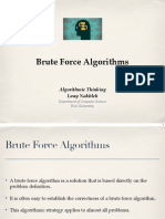 1 3 Brute Force Algorithms