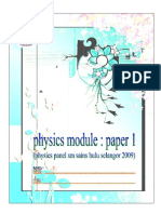 F4 PAPER 1 MODULE Introduction to Physics