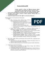 Summary of pension reform bill