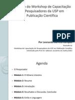 Prof. Leonardo Barreto Campos - Resumo do Workshop de Capacitação em Publicação Científica