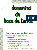 presentacion de fundamentos de base de datos