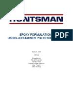 Epoxy Formulations Huntsman