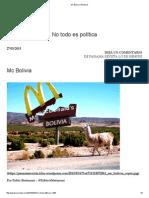 Mc Bolivia _ Panamá articulo
