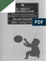 El Nino y El Significante Ricardo Rodulfo