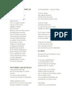 10 Letras de Canciones en Marimba