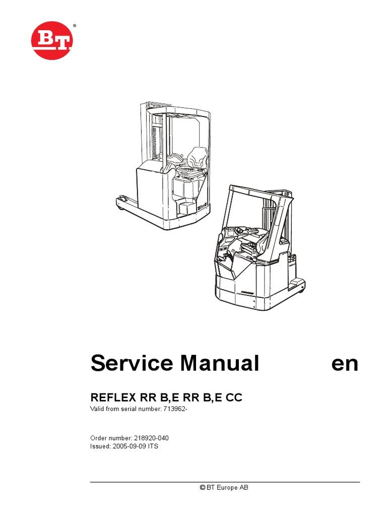 Bt Forklift Rr Workshop Service Repair