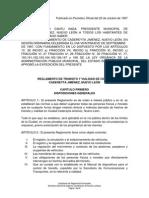 Reglamento de Tránsito CADEREYTA