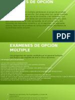 Evaluacion Examenes de Opcion Multiple
