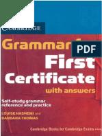 First Certificate Grammar Book