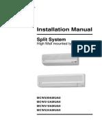 Trane Mini Split Normal Instalacion