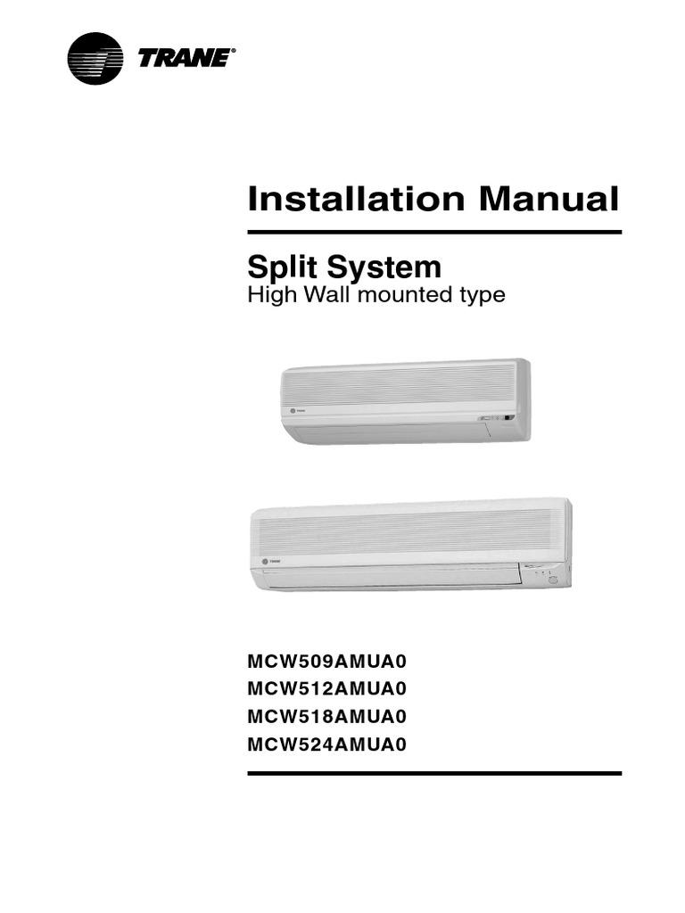 trane mini split normal instalacion electrical connector rh es scribd com