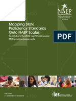 Mapping State Proficiency Standards Onto NAEP Scales Results From the 2013 NAEP Reading and Mathematics Assessments