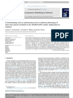 A Methodology and an Optimization Tool to Calibrate Phenology of Short-day Species Included in the APSIM PLANT Model Application to Soybean