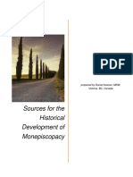 Sources for the Historical Development of Monepiscopacy