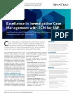 Solution Brief - OT Extended ECM for Investigative Case Management