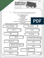 School 04 Worksheet Sentence Match