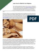 Placer Sexual Aumenta Con La Edad En Las Mujeres