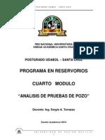 Programa de Pruebas de Pozos