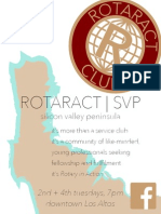 Rotaract SVP Flyer