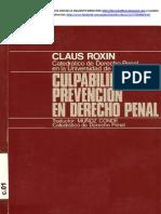 Claus Roxin - Culpabilidad y Prevencion en Derecho Penal