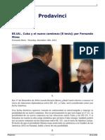 Ee Uu Cuba y El Nuevo Comienzo 8 Tesis Por Fernando Mires