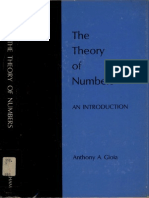 The Theory of Numbers, An Introduction, Anthony a. Gioia