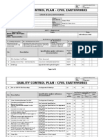 Civil Quality Control Plan-Earthworks