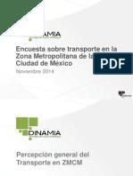 Encuesta sobre transporte en la Zona Metropolitana de la Ciudad de México