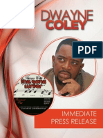 Dwayne Coley Press Release