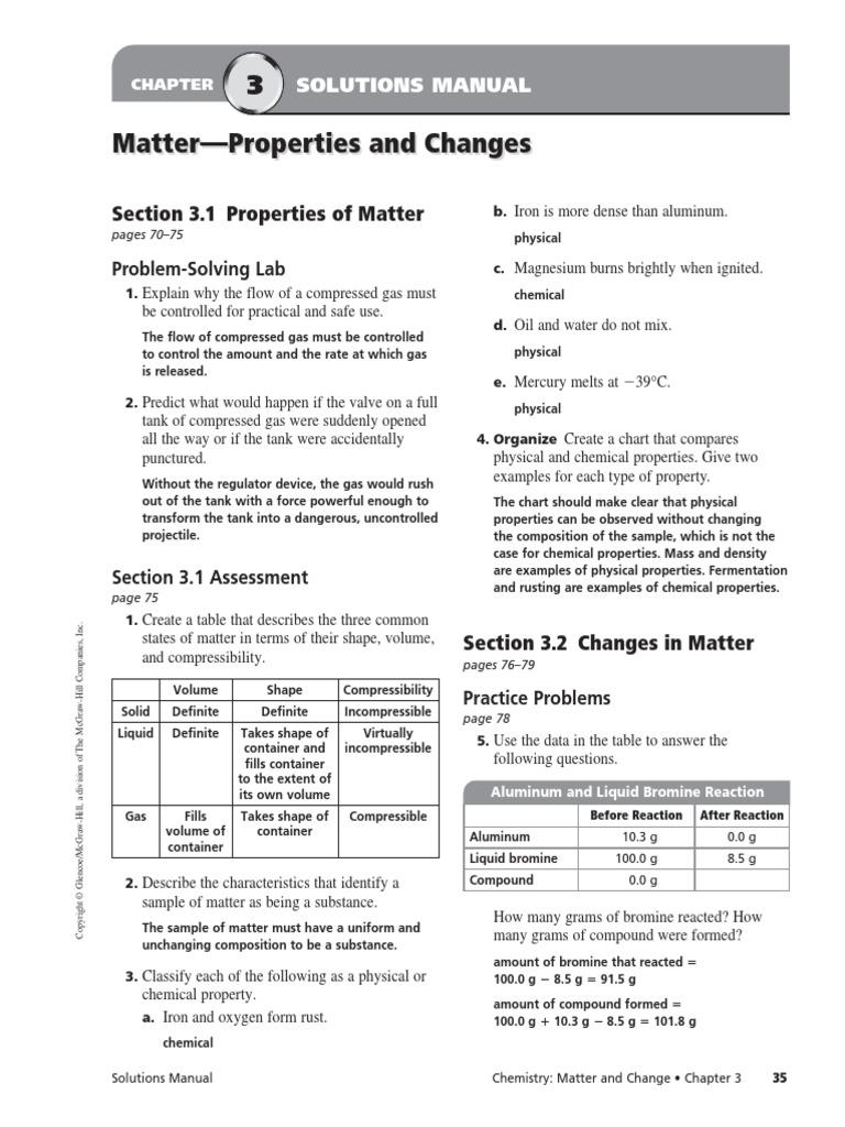 chapter 3 assessment mixture chemical substances rh pt scribd com Light Bulb Circuit Significant Figures