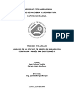 Análisis de edificio de albañilería confinada