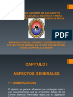 DEGRADACIÓN DEL CIANURO