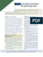 2010 Procedure Pre-Action Procedure for Parenting Cases AU