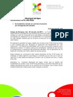 26-07-2011 Reparó Comisión Municipal del Agua hundimiento de la calle Mata. C436