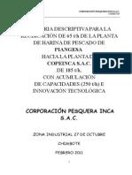 COPEINCA Chimbote Memoria Descriptiva PROTOCOLO ITP Feb11 (1)