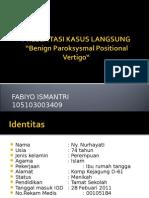 Benign Paroksismal Positional Vertigo (BPPV)