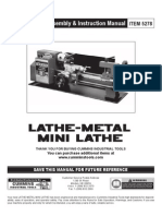5278 Manual - Mini Metal Lathe