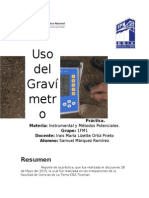 Reporte de Práctica de gravimetria