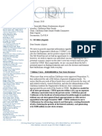 Klein, Torres Roth Letter Regarding CIRM Legislation