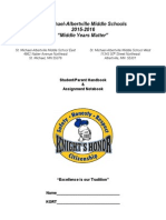2015-16-middle school student handbook-proposed changes