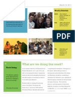 sample weekly news letter