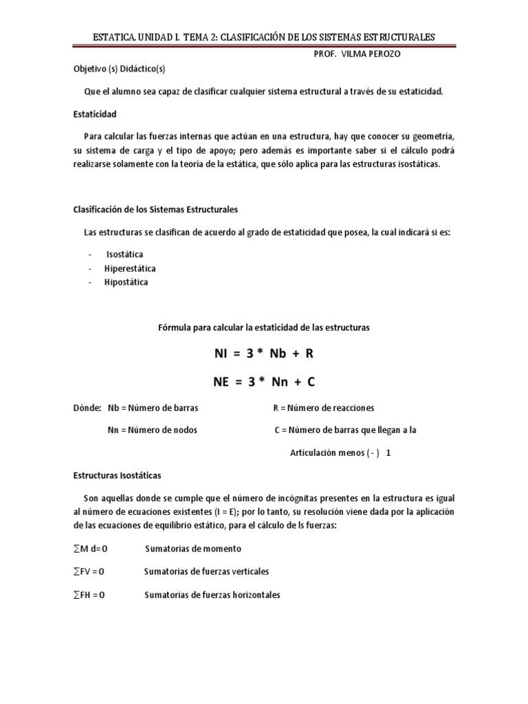 Estatica Tema 2 Unidad I 1